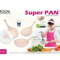 BOLDE SUPER PAN SET BEIGE SAUCE PAN FRY PAN WOK GRANITE KUALI WAJAN