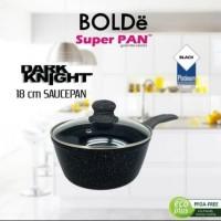 18CM BOLDE DARK KNIGHT SAUCE PAN+TUTUP KACA FRY PAN WOK KUALI WAJAN