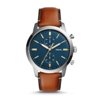 Fossil - Jam Tangan Pria TOWNSMAN CHRONOGRAPH LUGGAGE LEATHER FS527