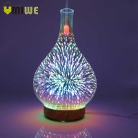 Firework Glass Vase LED Humidifier Aromatherapy 30ml - RJ300