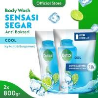 Dettol Bodywash Cool 800g pouch - 2 pcs