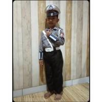 Baju/kostum/stelan profesi polantas anak2 size 5-6