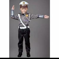 Baju/kostum/stelan profesi polantas cilik size 1-4