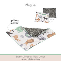 Aurora Baby Dimple Pillow Cover / Sarung Bantal Peyang (Peang) - Grey Whiteanmal