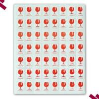 Stiker FRAGILE 6,5 X 4 CM