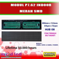 MODUL LED PANEL RUNNING TEXT INDOOR P7,62 MERAH SMD