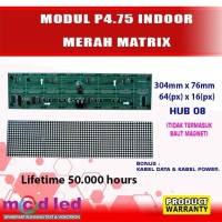 MODUL LED PANEL RUNNING TEXT INDOOR P4,75 MERAH MATRIX