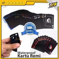 kartu remi plastik waterproof poker playing cards board games anti air - Benniu black pp
