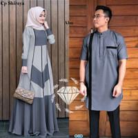 Couple Shiraya / Baju Pasangan Gamis Dan Kemeja Koko