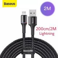 Baseus Cable Data iphone Lightning Kabel Halo LED 1.5A - 200cm