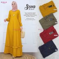 Baju Terusan Wanita Muslim Longdress Seva Dress Allila
