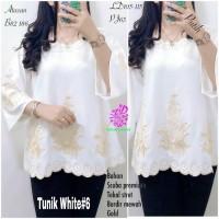 Baju Atasan Wanita Blouse Muslim White #6 Tunik Eknw