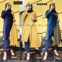 Baju Atasan Wanita Blouse Muslim Kanya Tunik Dhijab