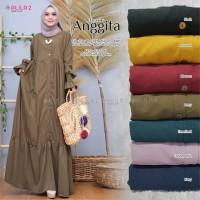 Baju Terusan Wanita Muslim Longdress Aggita Dress Allila