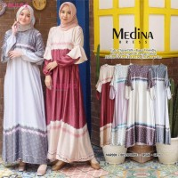 Baju Terusan Wanita Muslim Longdress Medina Dress Allila