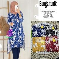 Baju Atasan Wanita Blouse Muslim Bunga Tunik Eknw