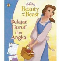 Buku Aktivitas PAUD TK Beauty and the beast belajar huruf angka mewarn