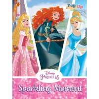 Buku aktivitas PAUD TK puzzle stiker mewarnai pop up Disney princess