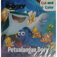 Buku Aktivitas PAUD TK Menggunting dan Mewarnai Finding Dory Disney