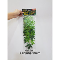 Exoterra Abutilon Silk Plant / Daun Plastik Dekorasi Kandang Reptil