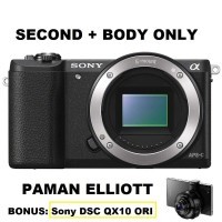 SONY ALPHA A5100 (Body Only) SECOND + BONUS Sony DSC QX10 SECOND