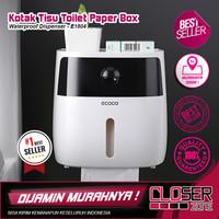 ecoco Kotak Tisu Tissue Storage Toilet Paper Box Dispenser Double Laye