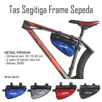 Tas sepeda segitiga frame hp dompet sepeda MTB roadbike balap pixie