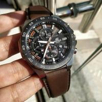 Jam Tangan Pria Casio Edifice EFR-564 BL Leather Brown Original BM