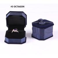 """OKTAGON""Kotak Tempat Penyimpanan Perhiasan KalungAntingCincin Lamaran"
