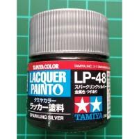 Tamiya Lacquer LP 48 Sparkling Silver - Cat Model kit Gundam