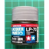 Tamiya Lacquer LP 70 Gloss Aluminium - Cat Model kit Gundam