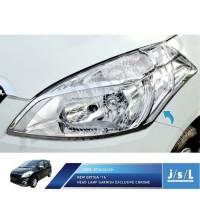 PAKET Garnis Lampu Depan - Belakang + Rear Reflektor Ertiga 16 Chrome