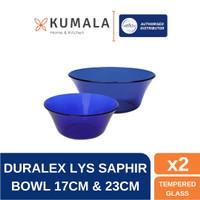 Duralex Mangkok Saji Lys Saphir Bowl 17cm dan 23cm - Set of 2 pcs