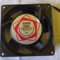 kipas AC 220v untuk box power ampli 9x9 cm