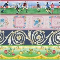 Wallpaper Border Wallborder List Sticker (10cmX10m) Motif 21222324