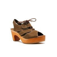 CLOGS Olivia (Insole) - Brown 7cm