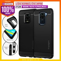 Case Redmi Note 9 / Pro / Max Spigen Rugged Armor Carbon Fiber Casing