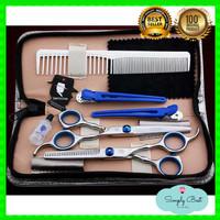 Peralatan Paket Gunting Rambut Flat Thinning Sasak Salon Profesional
