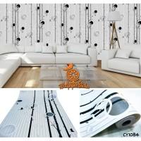 Home Wallpaper Sticker Dinding BLACK TREES - 45cm x 10m