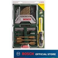 Bosch 40Pcs Titanium X-Line Set + Screwdriver / Mata Bor + Mata Obeng