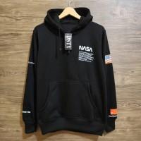 hoodie / jaket / sweater / hoodie pria nasa usa hitam unisex