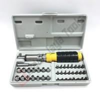 ORANGE Obeng Set 41 pcs - Kunci Sok Set 41 Pcs - Toolkit Shock Socket