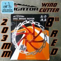 Rotor Alligator Wind-Cutter RED 203mm 8 inci piring cakram rem merah