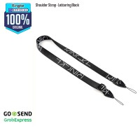 Ringke Shoulder Strap Letter Black Tali Gadget Camera Handphone Nylon