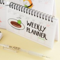 VP Cute Daily Planner Weekly Day Plan Time Organizer Stuff Notebook