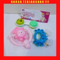 Mainan Anak Bayi 3 bulan Kerincingan Bel Karakter Lucu 3pcs Murah