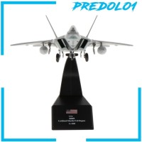 1/100 USA F-22 Fighter Raptor Diecast Airplane Aircraft Model Toy