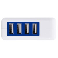 M8-4 Ports USB HUB Power Adapter Wall Home Travel Charger Smart