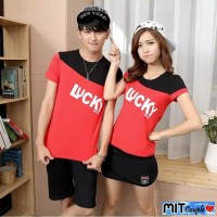 KAOS BAJU COUPLE LUCKY