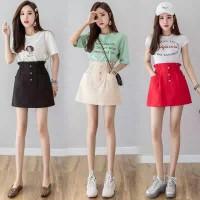 (#9857)UEE Skirt/Rok Banding/Rok Bahan Kain/Rok Mini